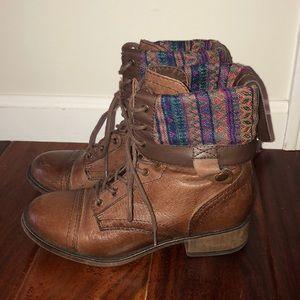 Steve Madden Brown Combat Boots